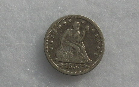 1853 Seated Liberty Quarter XF-45 - Of Coins & Crystals