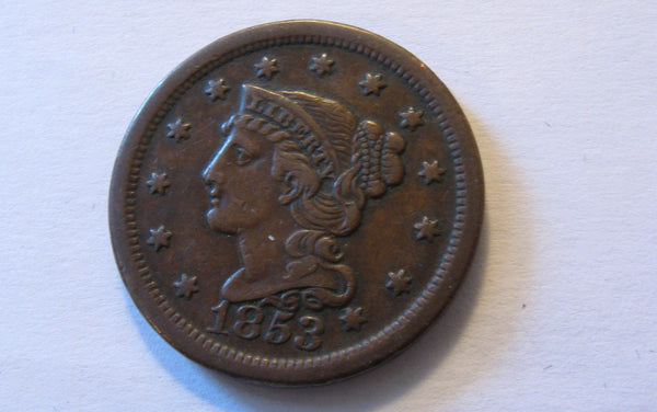 1853 Coronet Large Cent   XF-40 - Of Coins & Crystals