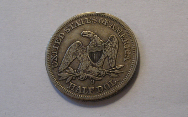 1854-O Seated Liberty Half Dollar  XF-40 - Of Coins & Crystals