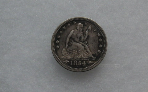 1854  Seated Liberty Quarter XF-45 | Of Coins & Crystals