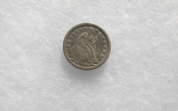 1854 Seated Liberty Dime XF-40 - Of Coins & Crystals