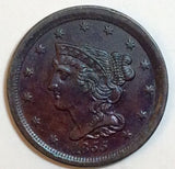 1855 Coronet Half Cent MS-63BN - Of Coins & Crystals