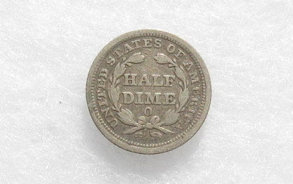 1856-O Half Dime VF-30 - Of Coins & Crystals