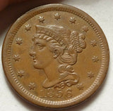 1856 Large Cent AU-58 - Of Coins & Crystals