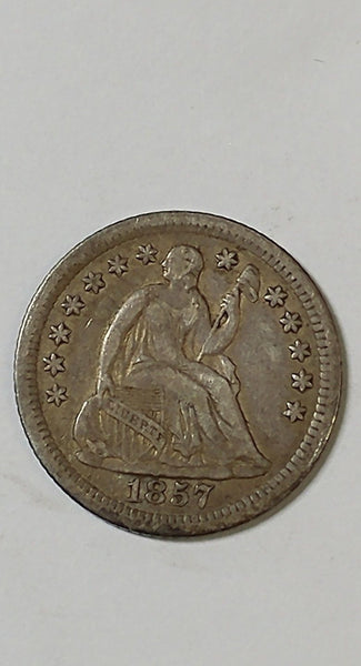 1857 O Half Dime VF-30 - Of Coins & Crystals