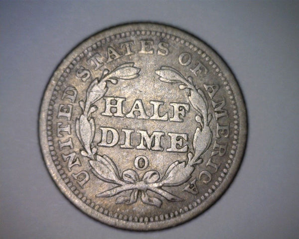 1857 O Half Dime XF-40 - Of Coins & Crystals