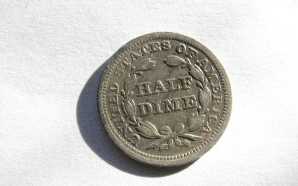 1857 Half Dime VF-20 - Of Coins & Crystals