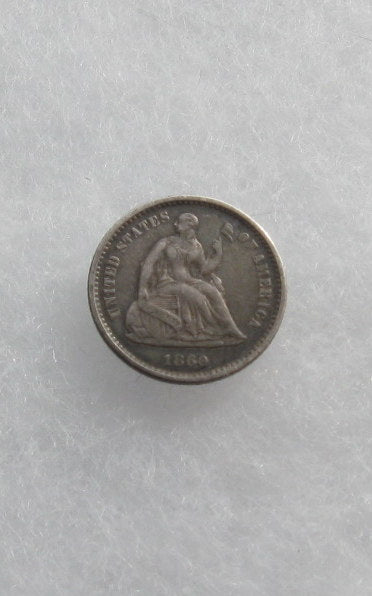 1860O Seated Liberty Half Dime XF-45 | Of Coins & Crystals