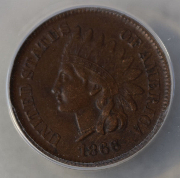 1866 Indian Cent ANACS EF45 - Of Coins & Crystals