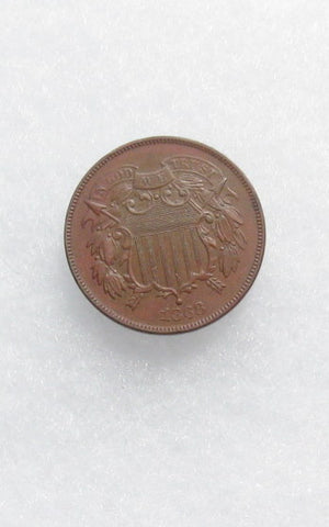 1868 Two Cents AU-55 | Of Coins & Crystals