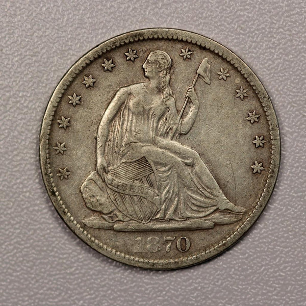 1870S Seated Liberty Half Dollar VF-30 | Of Coins & Crystals