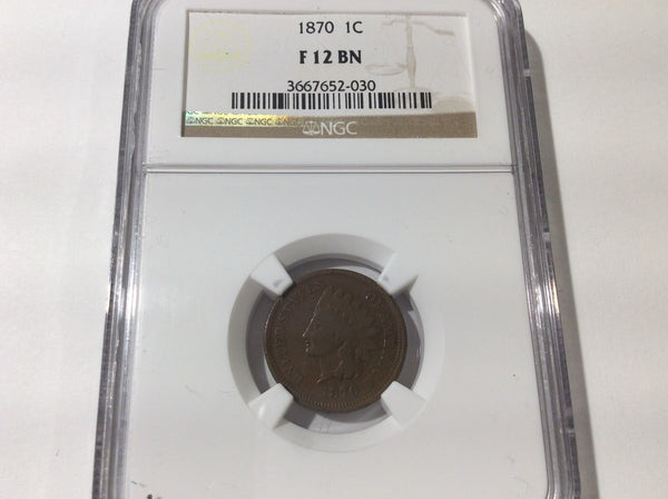 1870 Indian Cent NGC F12 | Of Coins & Crystals