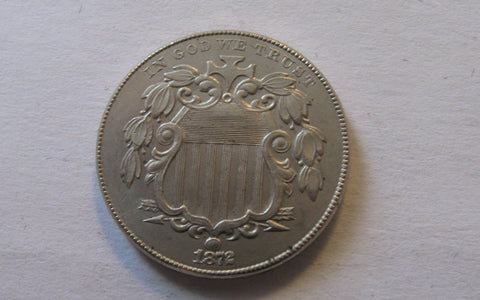 1872 Shield Nickel - Of Coins & Crystals