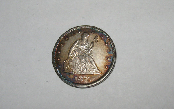 1876 Twenty Cents.  MS-62 - Of Coins & Crystals
