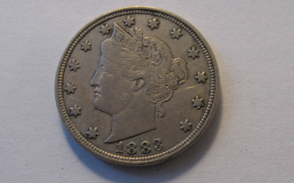 1883 V-Nickel.  With CENTS.  XF-40 - Of Coins & Crystals