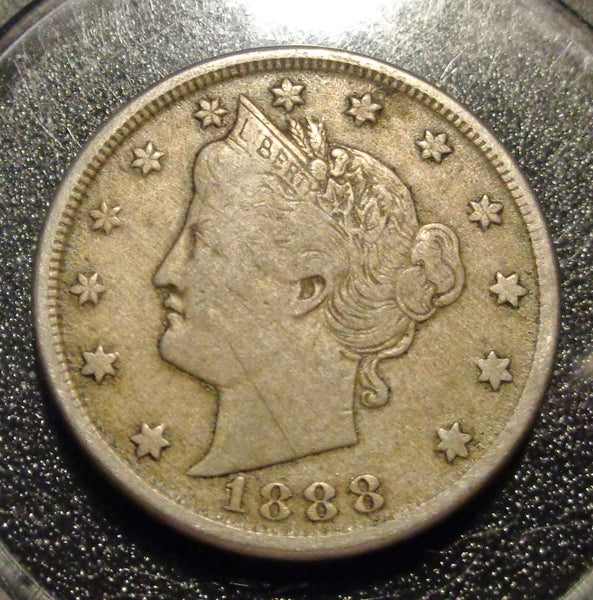 1888 V-Nickel F-15 - Of Coins & Crystals