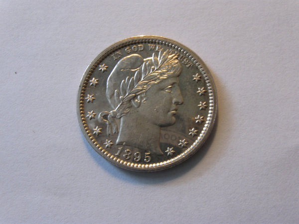 1895 Barber Quarter. PF-63 - Of Coins & Crystals
