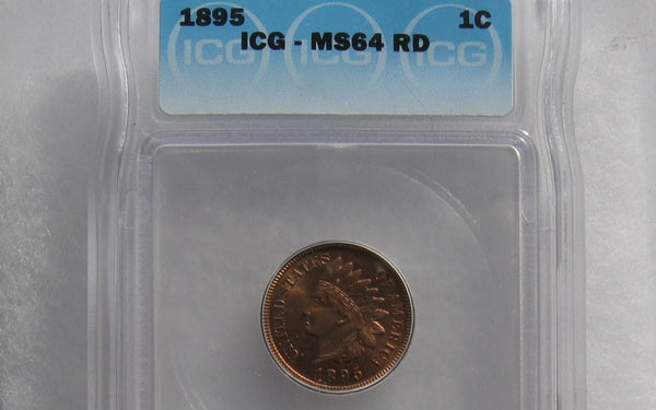 1895 Indian Cent ICG MS-64RD - Of Coins & Crystals