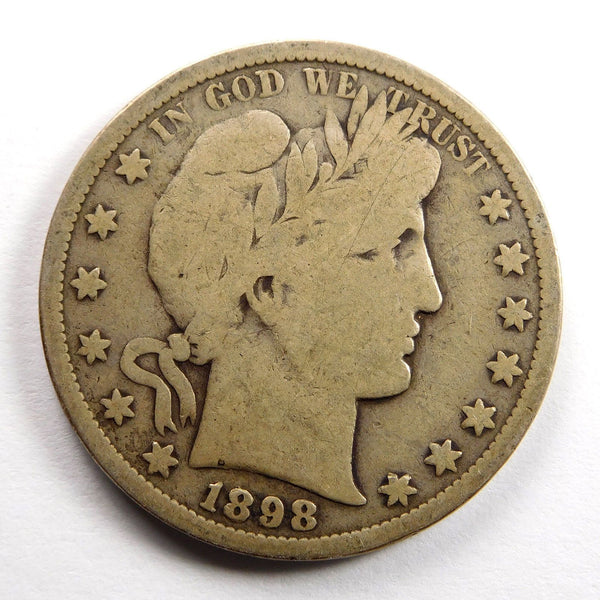 1898S Barber Half Dollar VG-8 - Of Coins & Crystals