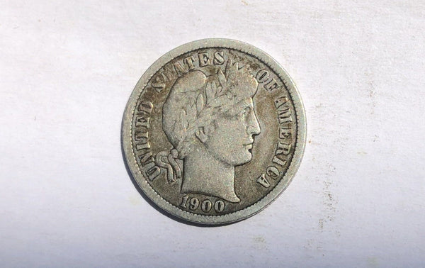 1900 O Barber Dime F-12 - Of Coins & Crystals