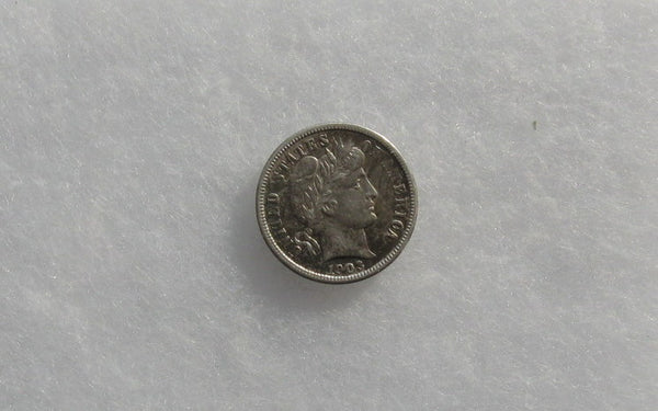 1903  Barber Dime AU-53 - Of Coins & Crystals