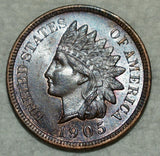 1905 Indian Cent MS-65 Bn - Of Coins & Crystals
