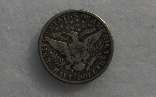 1907O Barber Half Dollar F-15 - Of Coins & Crystals