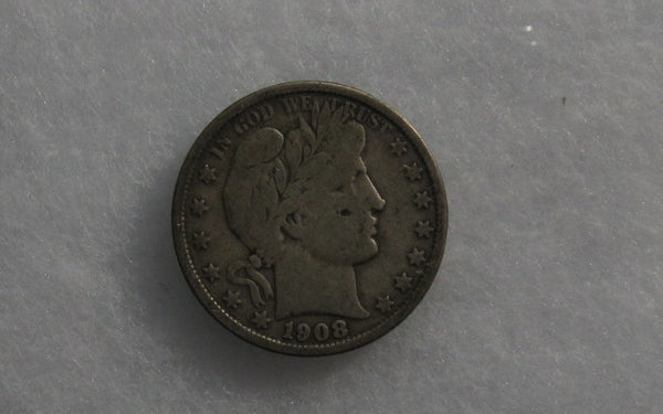 1908O Barber Half Dollar F-12 - Of Coins & Crystals