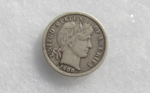 1908 S Barber Dime VF-30 - Of Coins & Crystals
