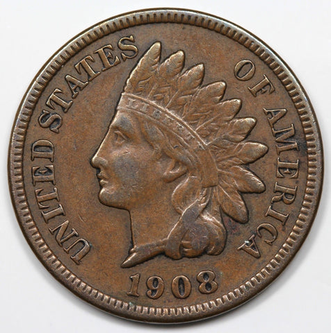 1908 S Indian Cent VF30 - Of Coins & Crystals