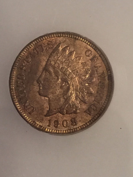 1908 Indian Cent ICG MS-64RB - Of Coins & Crystals