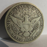 1912S Barber Half Dollar F-15 - Of Coins & Crystals