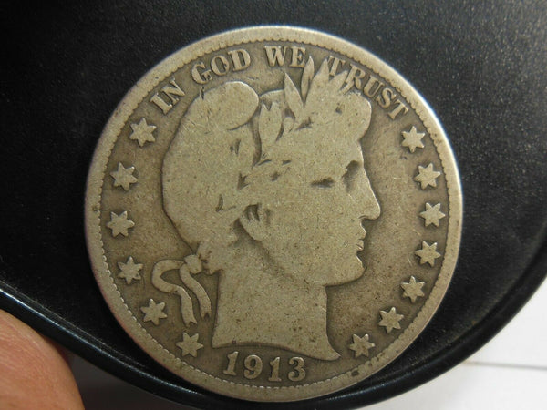 1913 Barber Half Dollar G-4 - Of Coins & Crystals