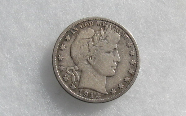 1914S Barber Half Dollar F-12 | Of Coins & Crystals