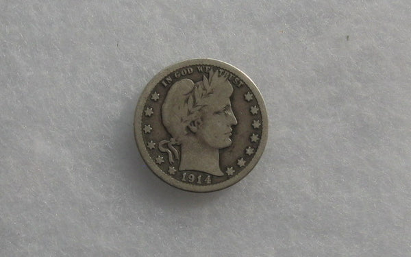 1914-S Barber Quarter VG-8 - Of Coins & Crystals