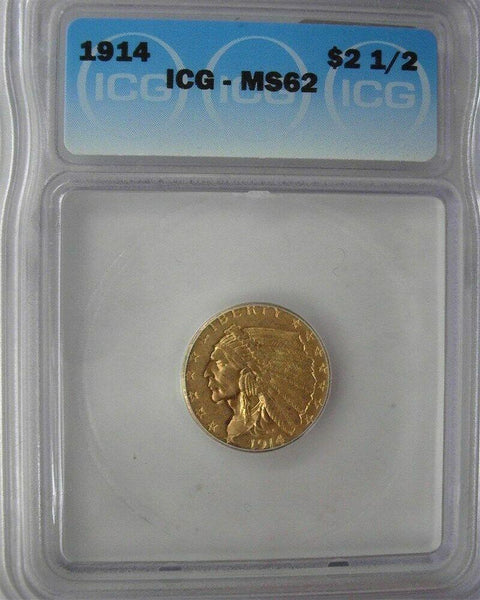 1914 Quarter Eagle ICG MS62 - Of Coins & Crystals