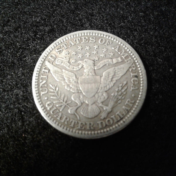 1914 Barber Quarter VF30 - Of Coins & Crystals