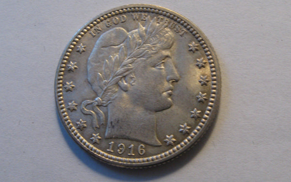 1916-D Barber Quarter.  MS-62 - Of Coins & Crystals
