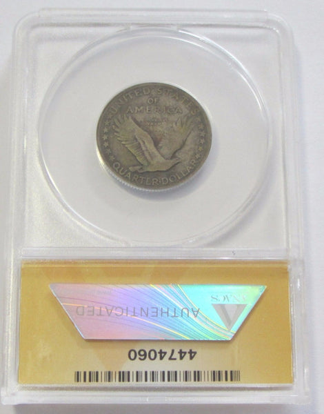 1917-D Type-I Standing Liberty Quarter ANACS VF20 - Of Coins & Crystals