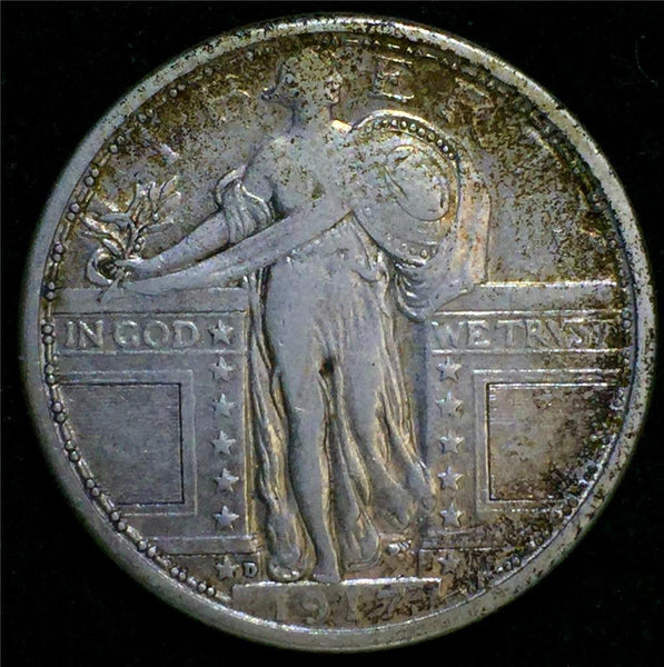 1917-D Type-I Standing Liberty Quarter VF20 - Of Coins & Crystals