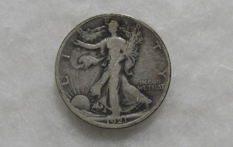 1921S Walking Liberty Half Dollar F-12
