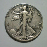 1921S Walking Liberty Half Dollar VF-20 - Of Coins & Crystals