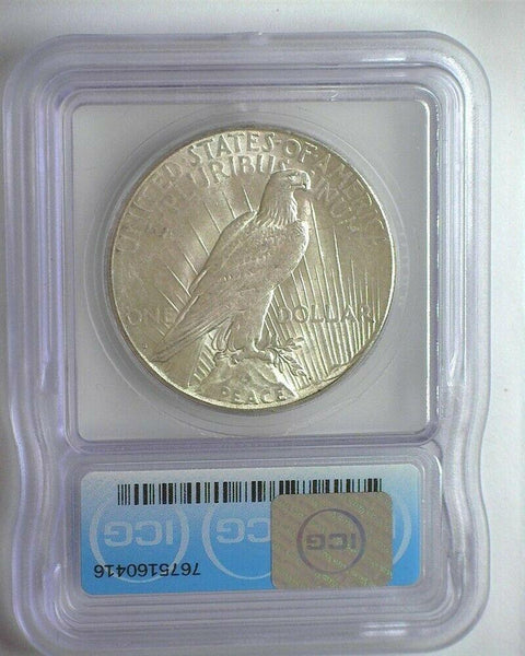 1923-S Peace Dollar ICG MS-63 - Of Coins & Crystals