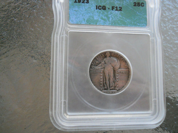 1923 Standing Liberty ICG F-12 - Of Coins & Crystals