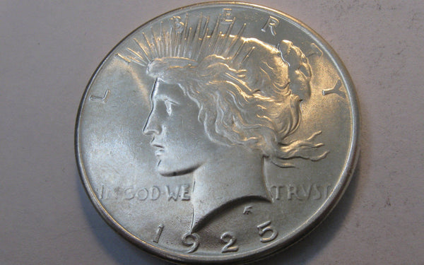 1925 Peace Dollar.  MS-66. - Of Coins & Crystals
