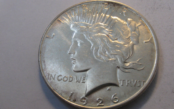 1926-D Peace Dollar.  MS-63 - Of Coins & Crystals