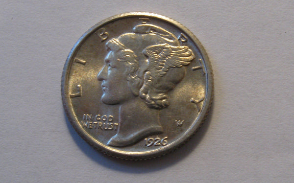 1926 Mercury Dime.  MS64FB - Of Coins & Crystals