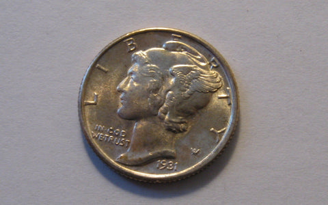 1931-S Mercury Dime.  Gem Uncirculated - Of Coins & Crystals