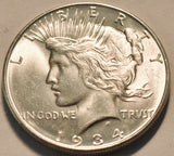 1934D Peace Dollar MS-64 - Of Coins & Crystals