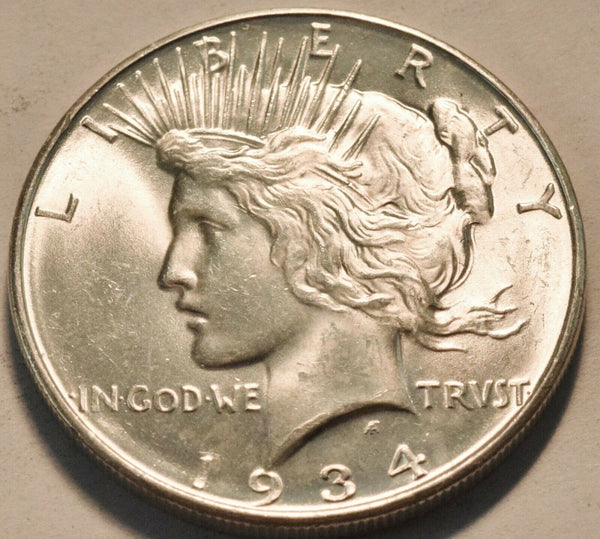 1934D Peace Dollar MS-64 | Of Coins & Crystals